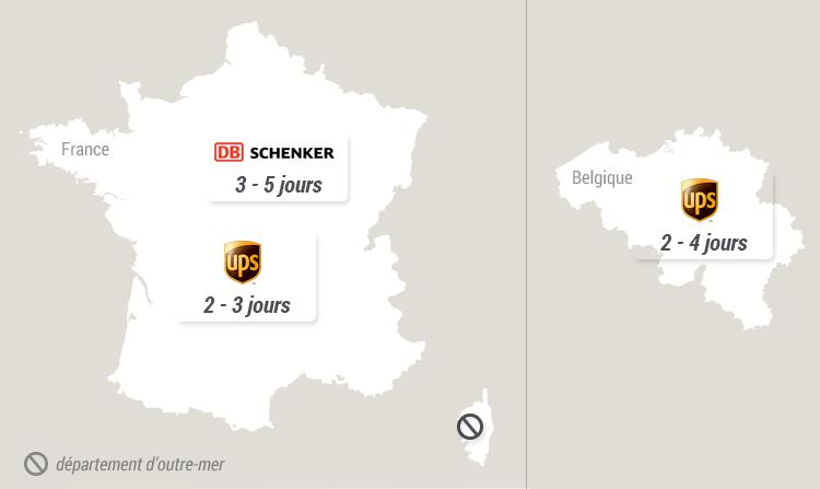 Délais de livraison - France - Belgique