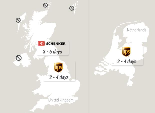 Delivery Times - United Kingdom - Netherlands