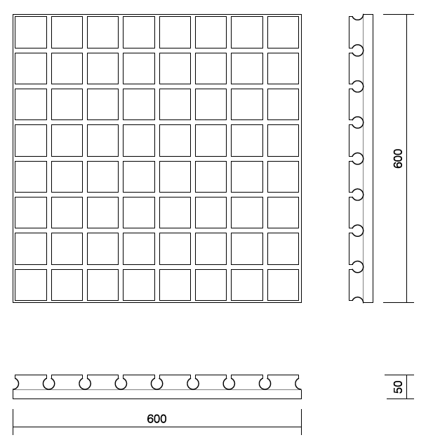 Desenho técnico painel Schäck