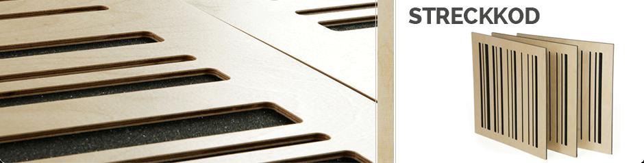 Streckkod - Wooden acoustic panel