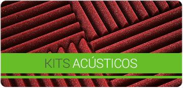 Kits acústicos para o tratamento de acondicionamento acústico de estúdios