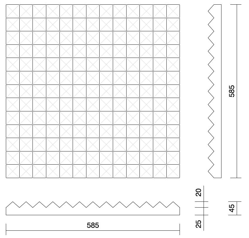 Desenho técnico painel Jafra FR