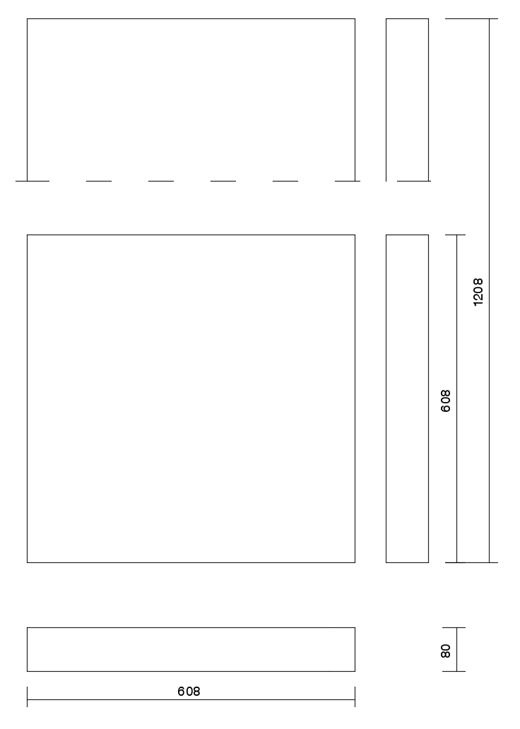 technical drawing JJM 80 panel
