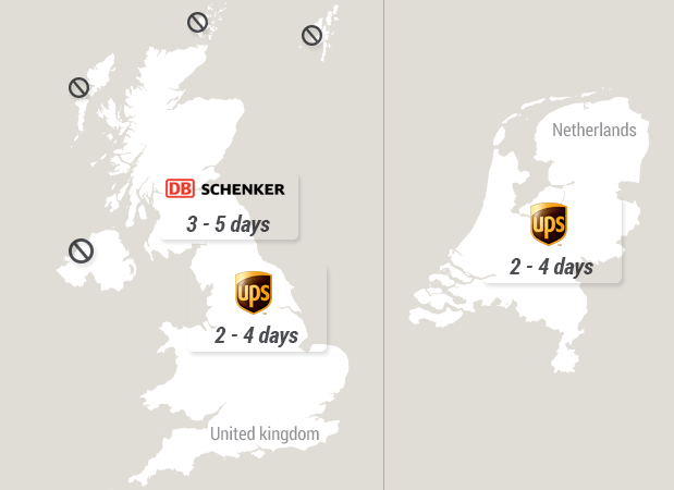 Delivery Times - United Kingdom - Netherlands